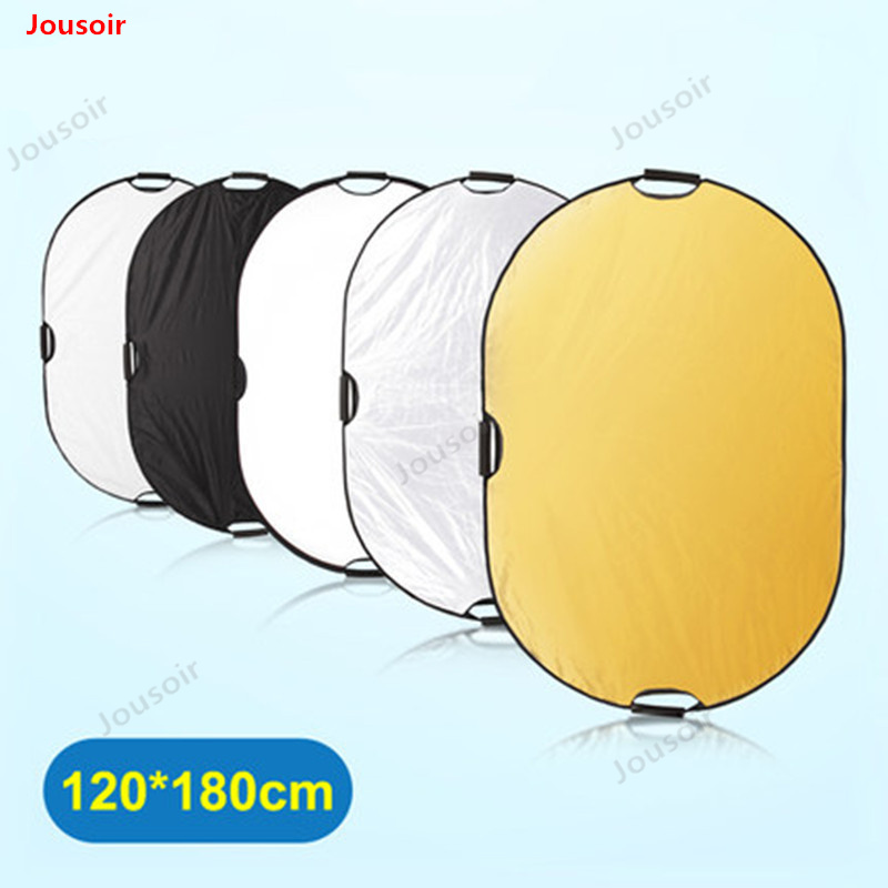 Oval 120*180cm Five-in-all reflector plate folding portable photographic equipment Shading plate CD50 T03Oval 120*180cm Five-in-all reflector plate folding portable photographic equipment Shading plate CD50 T03