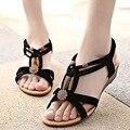 Zapatos de las mujeres Sandalias Comfort Sandalias Chanclas de Verano 2017 de La Moda de Alta Calidad de Las Cuñas de Las Sandalias Gladiador Sandalias Mujer