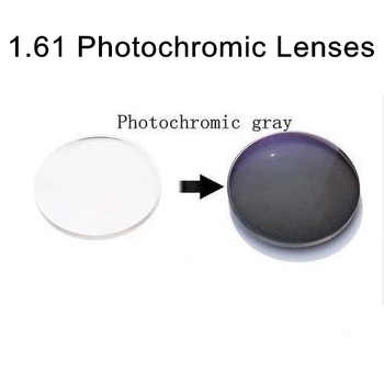1.61 Aspheric Photochromic Lenses Sunglasses Lens with Degree Single vision Photogray prescription RX lenses for myopia - DISCOUNT ITEM  0% OFF All Category