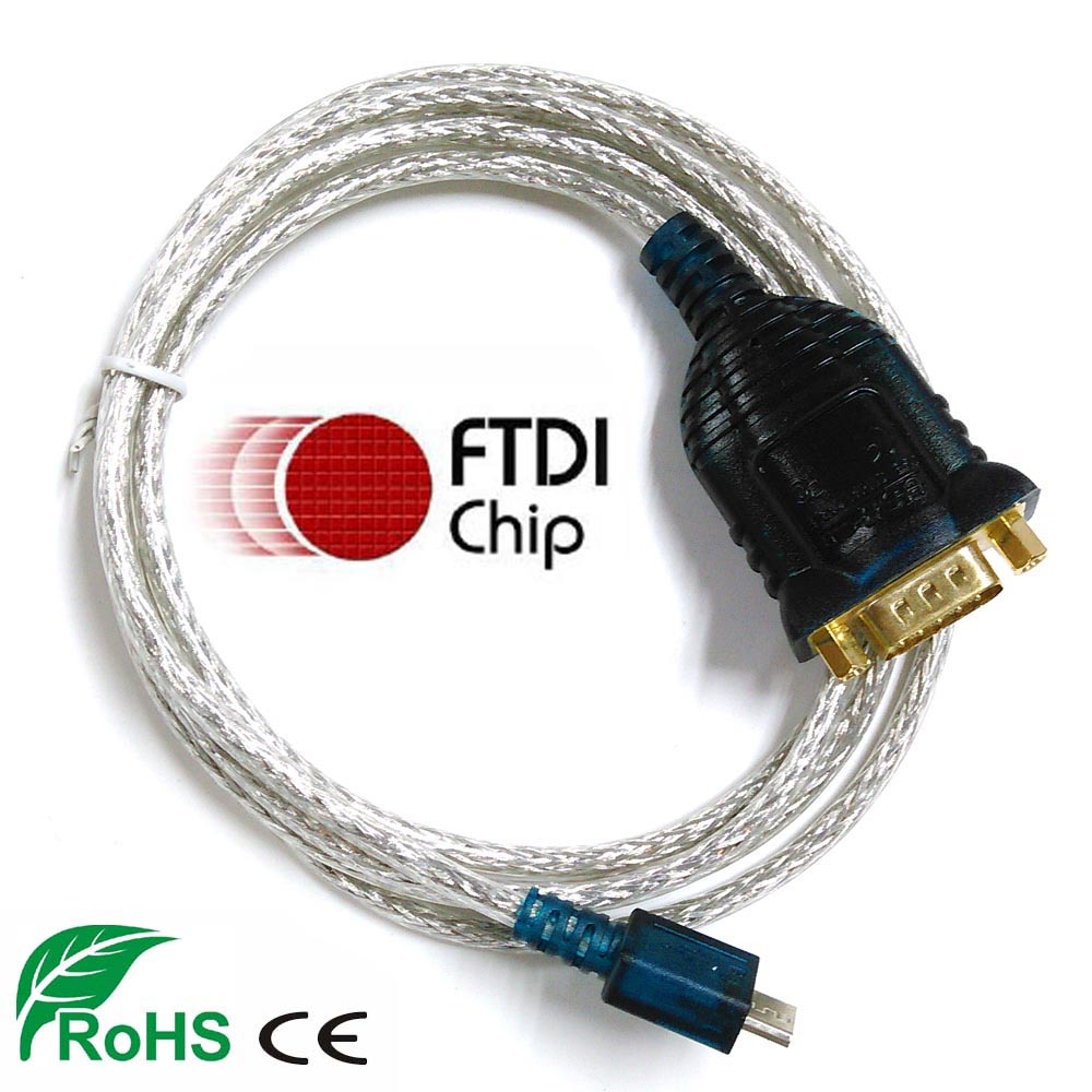hight resolution of ftdi usb rs232 cable with db9 male full pinout compatible with uc232 us232 micro usb serial