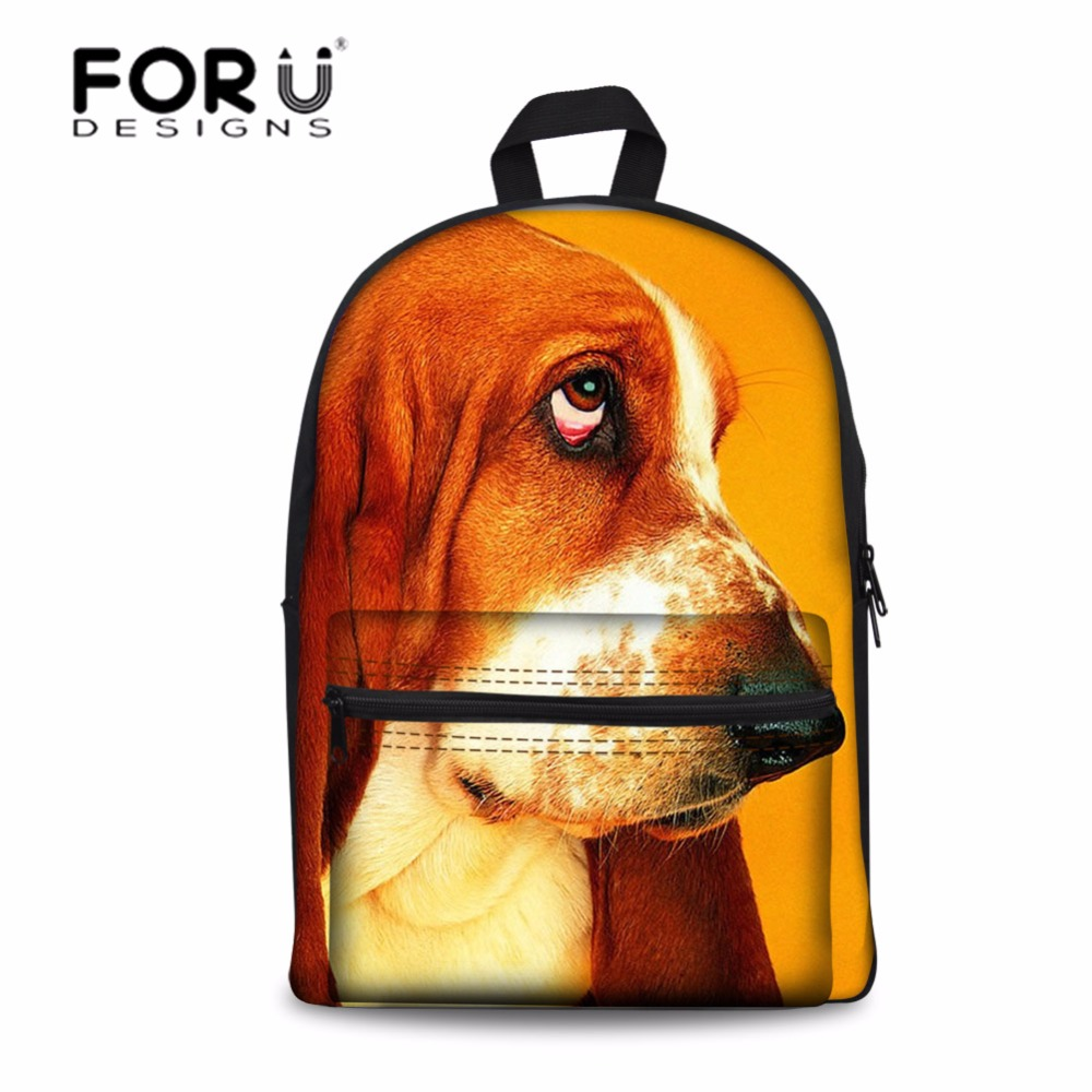 FORUDESIGNS Student School Bags Book Bags Cute Dog Wolf Casual Women Shoulder Laptop Backpack Daily Bagpack Mochilas Infantil women casual backpack for teenage girls children school bags bagpack lady laptop backpack student book bag schoolbags pink blue