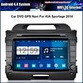 Android 4.4 1024*600 Pantalla Capacitiva de DVD Del Coche Para KIA Sportage 2014 Con GPS Navi Bluetooth de Radio (sin función de Canbus)