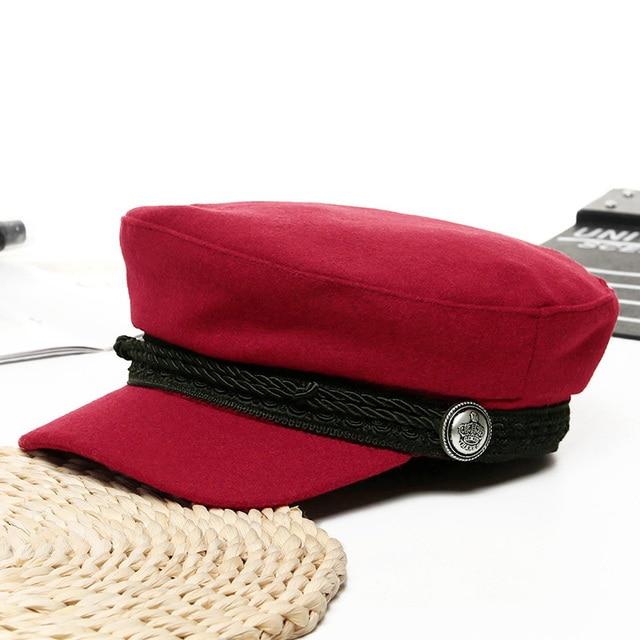Women Baseball Cap Hats For Women Winter Octagonal Fashion French Wool Baker's Boy Hat Cap Female Black Streetwear Caps 2019 6