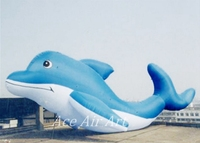 Long giant outdoor advertising item inflatable Dolphin for event and show or Aquarium Store Open