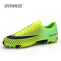 HYFMWZS Original Indoor Turf Men Soccer Shoes High Quality Cheap Football Shoes For Mens Soft And Breathable Chuteira Futebol