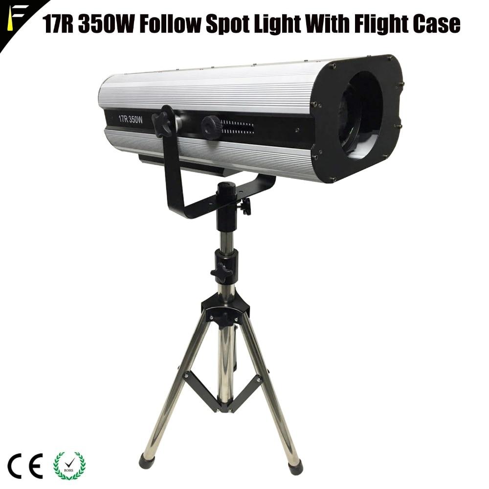 Upgrade Spot Follow Light 350w 17R DMX512 MSD Followspot Light With Flight Case For Wedding The
