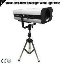 Обновления пятно прожектор следящего света 350 Вт 17R DMX512 MSD следящий свет с кейс для свадьбы/бар/Театр