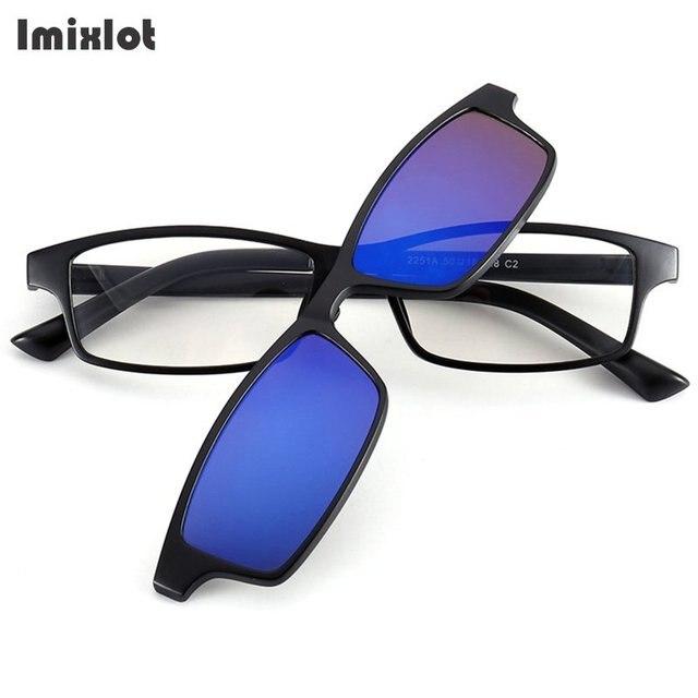 Imixlot 5 pçs set Ímã Óculos De Sol Clipe Magnético Clipe Polarizada Em  Óculos De 72ce67f15d