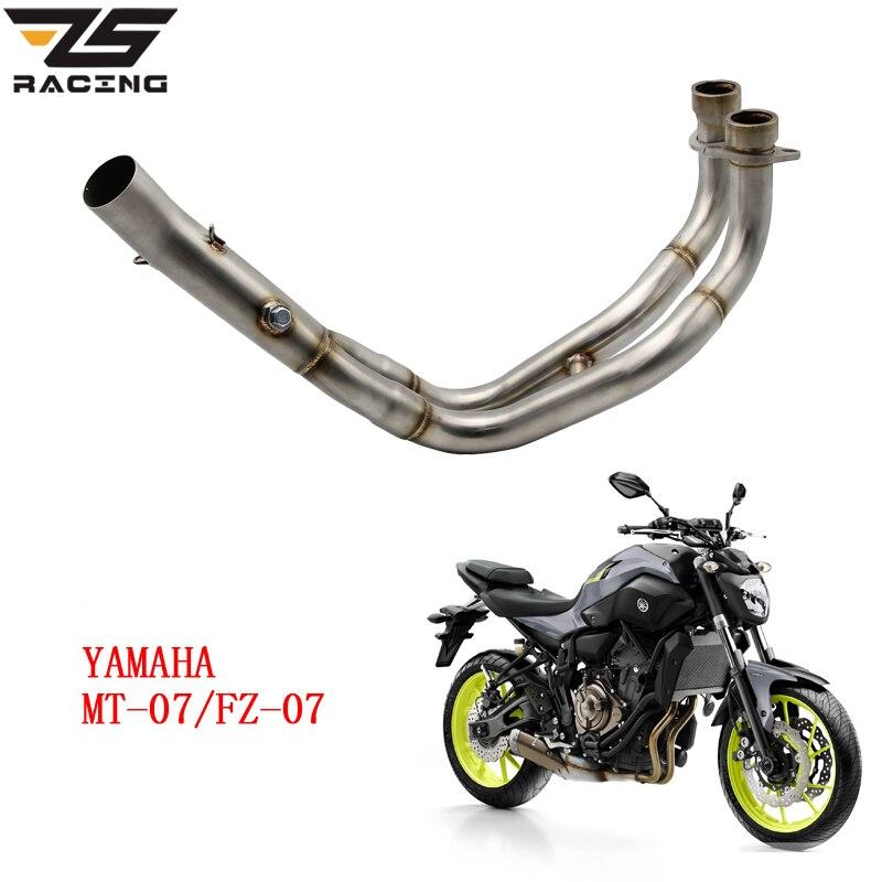 ЗС гоночный мотоцикл глушитель средний подключить ремонт мотоциклов Средняя Труба выхлопной Чехол для YAMAHA МТ-07 MT07 ФЗ-07 FZ07