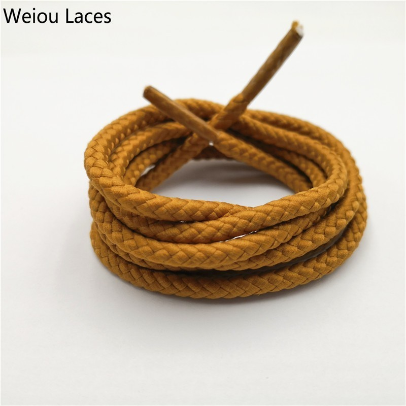 New Style Round Cord Canvas Shoes Sport Unisex Shoelaces Shoe String Strap Top