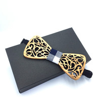 hand made Hollow Wood Fashionable Bow Ties for Men Wedding Suits Wooden Bow Tie Butterfly Shape Bowknots Gravatas Slim Cravat