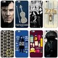 Sherlock dr watson casa duro transparente capa case para iphone 7 7 plus 6 6 s plus 5 5S se 5c 4 4S