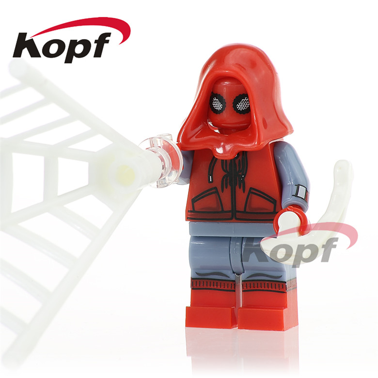 50Pcs XH 769 Super Heroes Spiderman Masked Robber Daredevil Homecoming Bricks Building Blocks Learning Gift Toys For Children