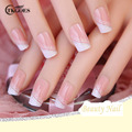 TKGOES 24pcs/set Acrylic Nails 3d False Nail Full Fake Nail French Nail Tips Pre Design Nail With Free Glue JQ057