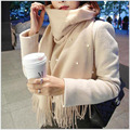 Ladies Pearl Scarf New Korean Cashmere Thickening Warm Autumn And Winter Long Paragraph Shawl Dual Use Conditioning Shawl A112