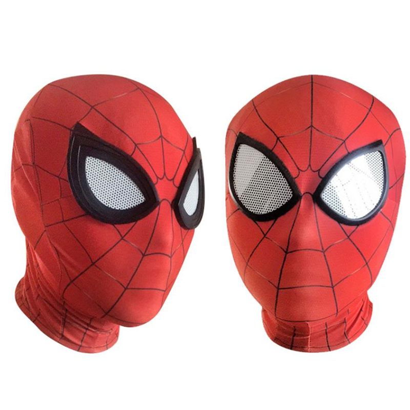 Spiderman Homecoming Avengers Infinity War Iron Spider Man Cosplay Costumes Lycra Mask Superhero Lenses 3D Masks