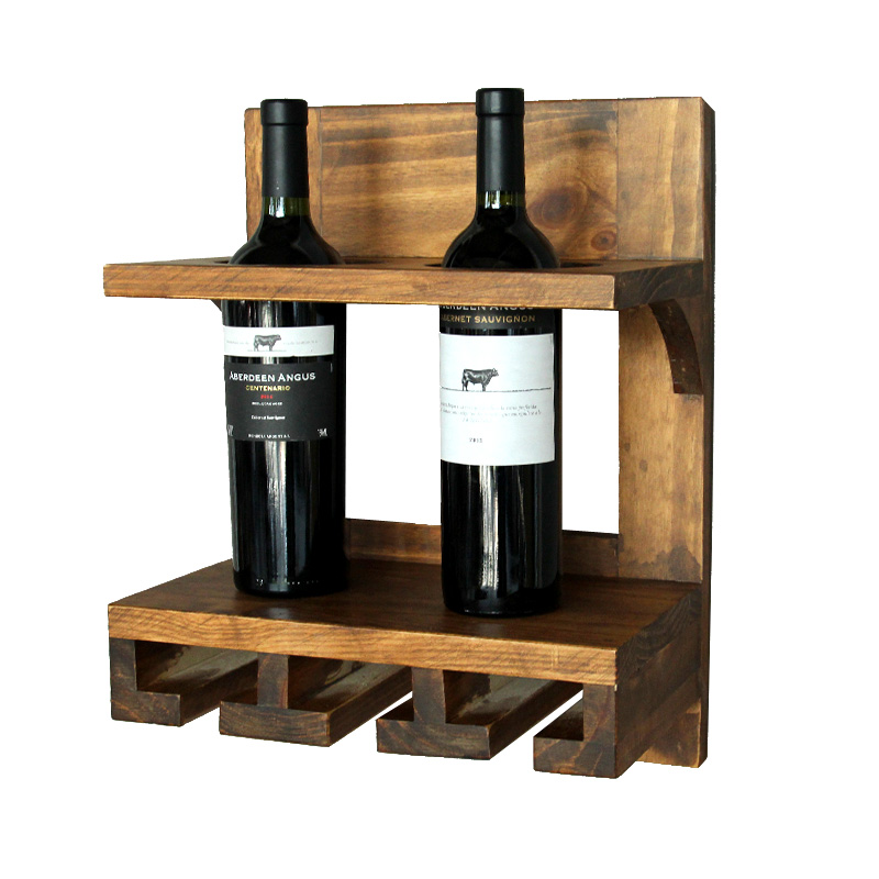 Creative europe wine rack wooden wall hanging ornaments Hanging wooden wine rack