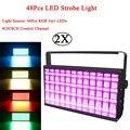 2 шт./лот 48 шт. LED RGB 3в1 стробоскоп для DJ дискотека вспышка для сценического Клуба Свет RGB цвет смешивания Blinder эффект