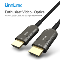 Unnlink HDMI 2.0 Cable Long Transmission Lossless UHD 4K@60Hz HDMI Fiber Optical Cable 10M 20M 25M 30M 40M 50M 60M for TV