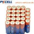 48 PCS PKCELL AA Bateria MN1500 LR6 1.5 V AA Pilhas Alcalinas AM3 E91 Primária Seca Da Bateria 2A Baterias Bateria baterias