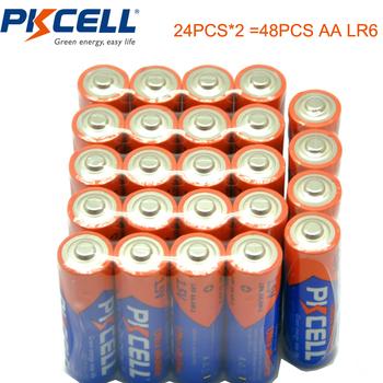 48 sztuk PKCELL AA baterii LR6 1 5 V baterie alkaliczne AA E91 AM3 MN1500 sucha Bateria podstawowego 2A baterie Bateria baterie tanie i dobre opinie LR6 AM3 3 9ohm 24h d 350 minutes Alkaline Battery China (Mainland) Alkaline Mo2 4pcs Shrink