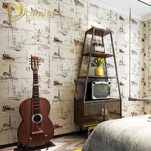 Fashion Cartoon Airplane Vintage Wallpaper Rolls Kid Girls Boys Bedroom Living room Background Wall Photo Wall paper R623
