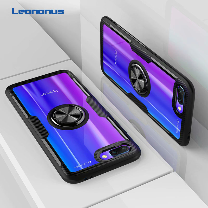 Finger Ring Kickstand Case for Huawei Honor 10 7X Play TPU Bumper Car Magnetic Acrylic Case Innrech Market.com