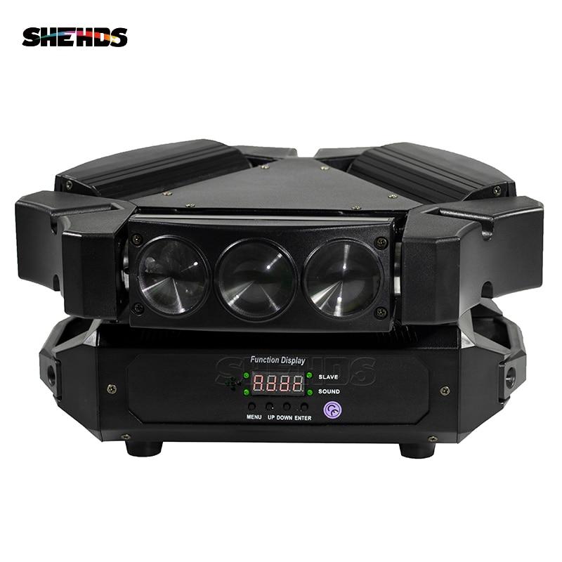 New Arrival MINI LED 9x10W LED Spider Light RGBW 16/48CH DMX Stage Lights Dj LED Spider Moving Head Beam Light