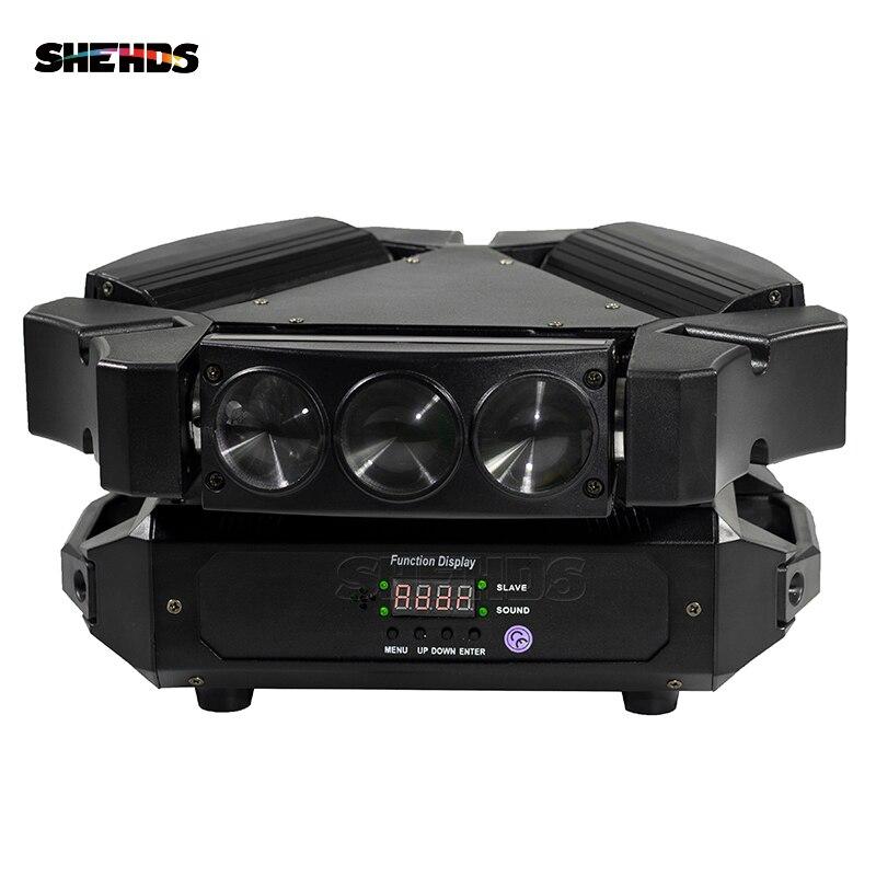 Новое светодиодный поступление мини светодиодный Светодиодный 9x10 Вт светодиодный Паук свет RGBW 16/48CH DMX сценические огни светодиодный Dj LED Па...