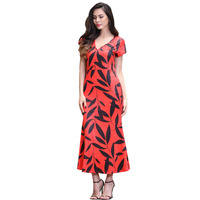 Women Elegant V Neck Bodycon Dress Vintage Formal Party Mermaid Cocktail Long Gowns Plus Size