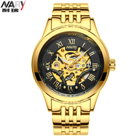 NARY Classic Luxury Men S Watches Brand Top Mechanical Wristwatch Man Sapphire Stainless Steel Gentleman Watch