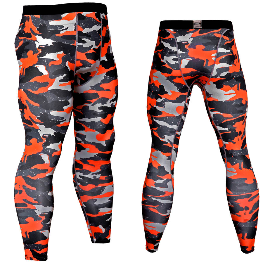 2019 Compression Pants Men Jogging Pants Fitness Gyms Running Pants Tights Men Camo Sport Legging Bodybuilding Training Trousers