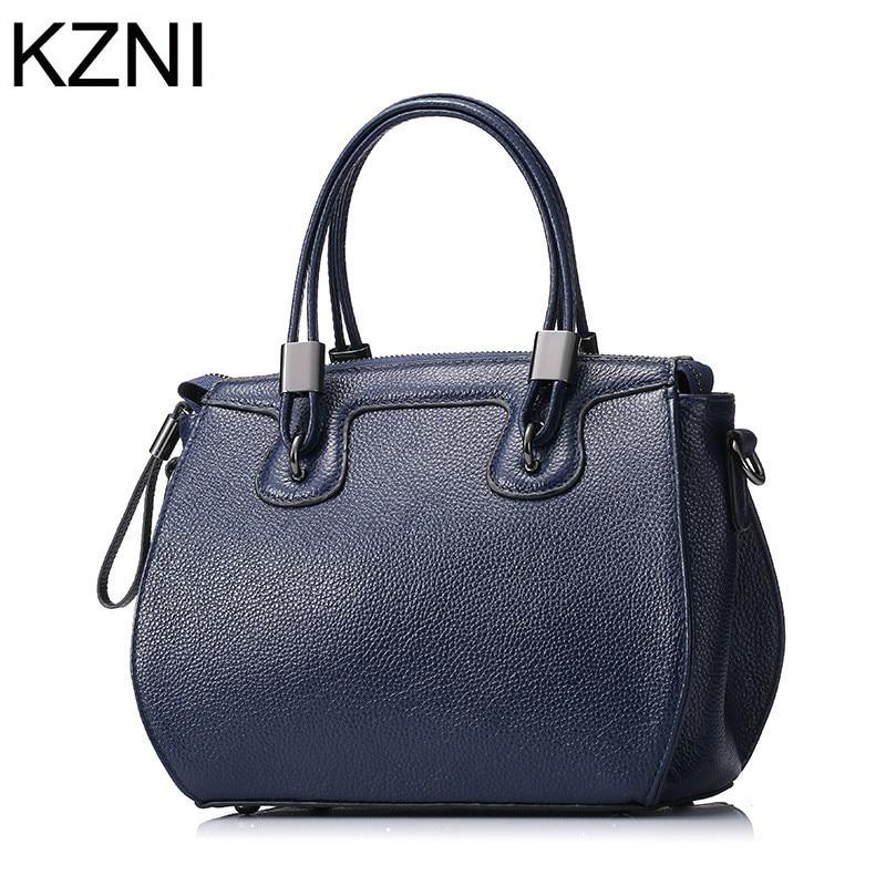 ФОТО KZNI genuine leather crossbody bags for women designer handbags high quality brand women messenger bags bolsas femininas L121811