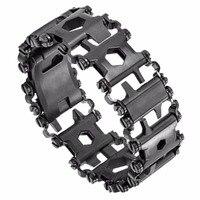 2017 Punk Walker Wearable Stainless Steel Tool Bracelet For MEN Outdoor Multifunctional Screwdriver Bracelets 29 Functions