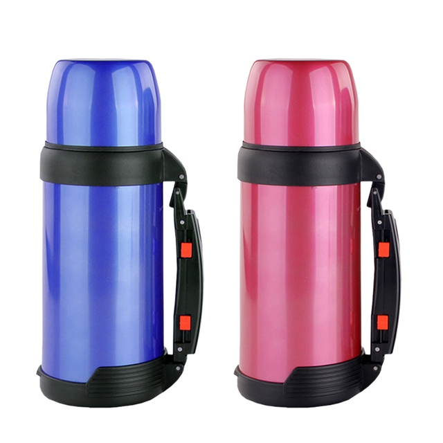 1500ml Stainless Steel Mug Thermos Vacuum Coffee Cup Large Capacity Kettle Drink Bottle With Carrying Handle