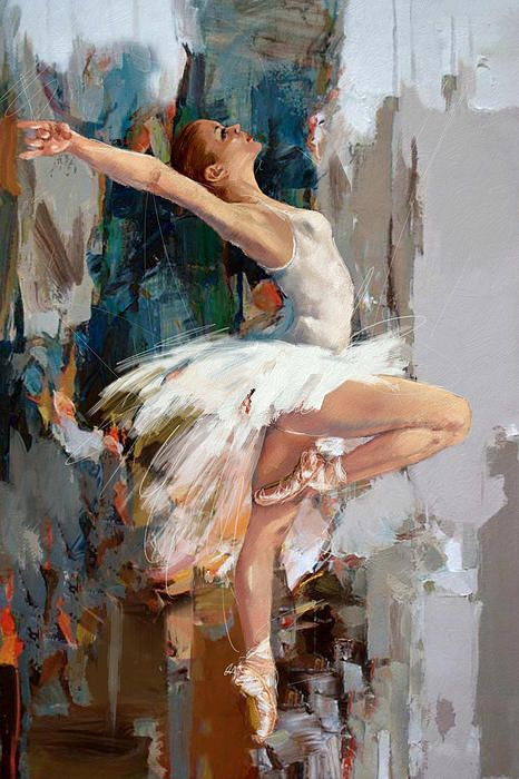 mahnoor shah картины купить - Impressionist Canvas Art Gallery Ballerina Oil Painting by Mahnoor Mano Shah Ballet Dancer Paintings Portrait 100% Hand Painted