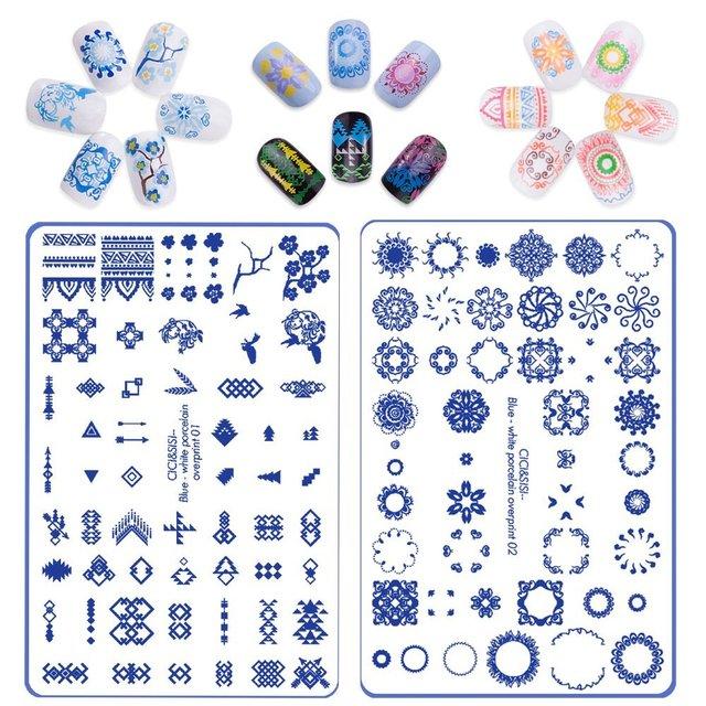 CICI&SISI Nail Art Stamping Plates Stamping Stamp Template ...