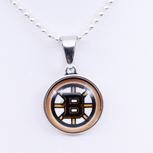 Necklaces Pendants NHL Boston Bruins Charms Ice Hockey Team Women Necklace For Girls Gifts Party Birthday Fashion 2018