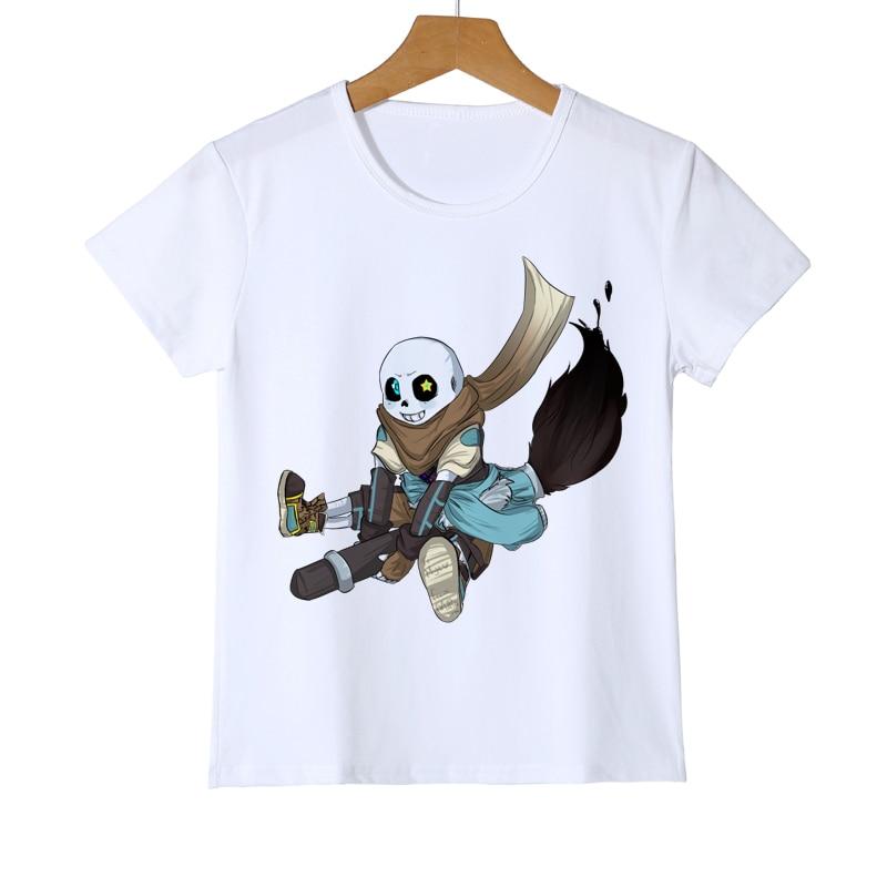 da4b065362d86 Bébé et adolescents T-shirts Été Enfant Undertale Jeu T-shirt 3D ...