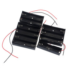 1pcs 18650 Power Battery Storage Case Box Holder Leads With 1 2 3 4 Slots drop shipping 0717
