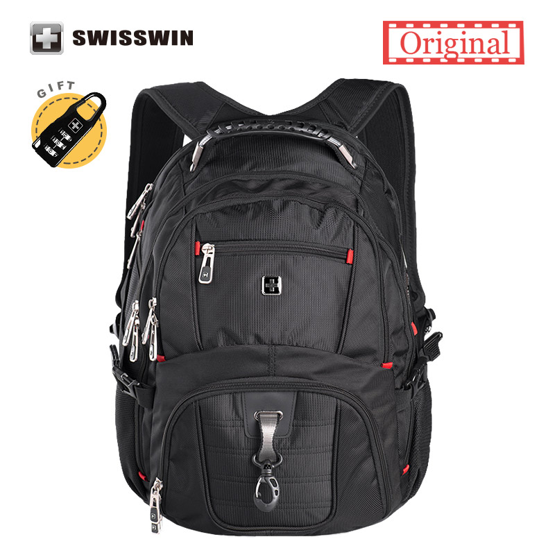 swiss Laptop backpack High quality 15.6 Laptop bag men's business travel waterproof backpack military bag sac a dos  sw8112 laptop palmrest