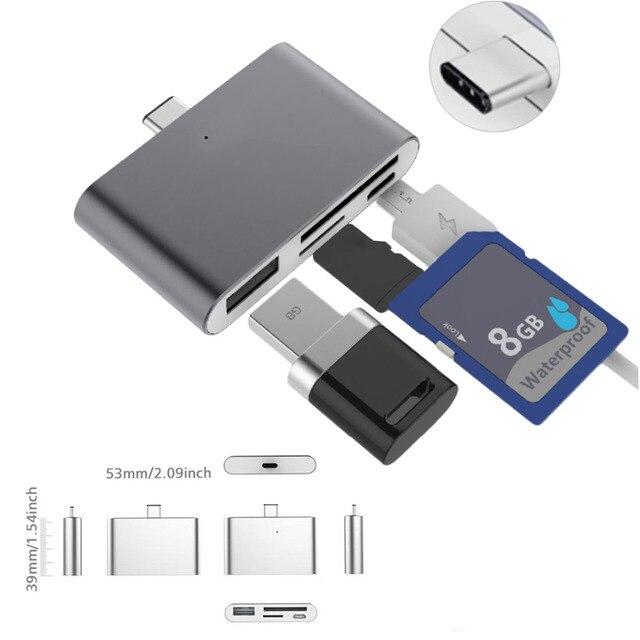 VONETS tipo-C USB tipo C HUB OTG Sim CF SD TF lector de tarjeta Adaptador convertidor para MacBook Air Samsung galaxy Note 8 S8 Accesorios