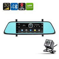 T80 MT8382 Car DVR Dash Cam 7 Inch 1080P Front Camera Universal Rear View Parking Camera