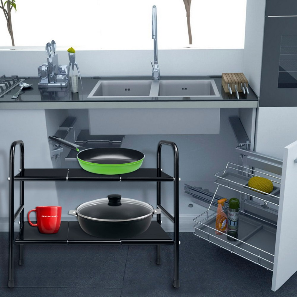 aliexpress : buy homdox 2 tier kichen shelf stainless steel