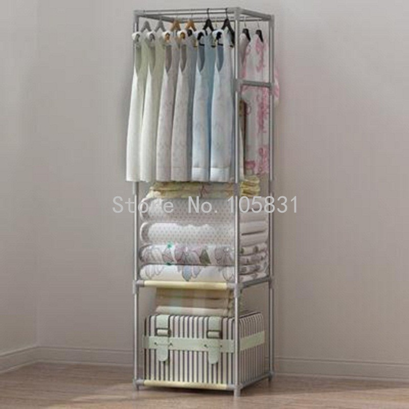 European Simple Bedroom Floor Type Coat Rack Clothing Hanger Creativity  Ground Clothes Rack(China (
