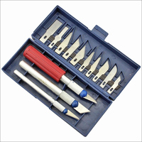 2016 13PCS Hobby Knife Set Carving Tools Set With 3 Handles Sculpture Knife Multifunction Stencil Scribing