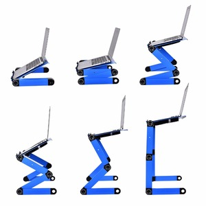Image 5 - Liga de alumínio mesa do portátil ajustável portátil dobrável computador estudantes dormitório mesa do portátil suporte do computador cama bandeja