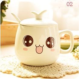 340ml creative personality expression cup, fun coffee milk drink fruit juice cup, personal expression cute cartoon ceramic mug