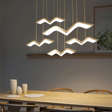 Modern Led Chandelier Lustre Lamp Hanging Lighting White Hanglamp Remote Control Kitchen Dining Room Office Decoration Fixture