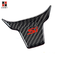 ZXMT Carbon Fiber Inner Steering Wheel Cover Trim Sticker decal Protection For Honda Civic Si  Logo 2016 2017 2018 велосипед cannondale f si carbon 2 29 2016